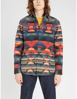 Southwestern cotton shirt jacket