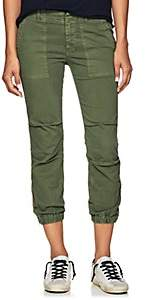 Nili Lotan Women's Striped Stretch-Cotton Crop French Military Pants - Camo