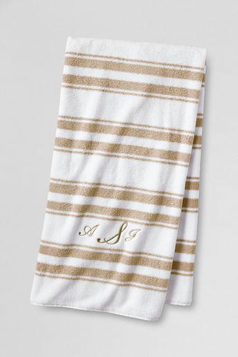 Lands' End Supima Stripe Bath Towel
