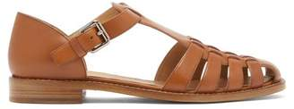 Church's Kelsey T Bar Leather Sandals - Womens - Tan