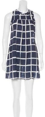 Nili Lotan Grid Print Sleeveless Dress