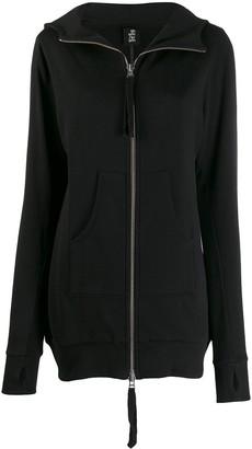 Thom Krom zip front hoodie dress