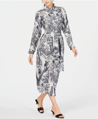 Max Mara Ossola Printed Silk Button-Down Dress