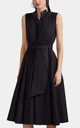 Barneys New York Women's Cotton Poplin Belted Shirtdress - Black