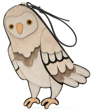 Oscar de la Renta Beige Owl Pouch