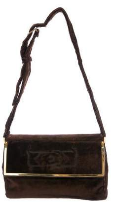 Pre Owned At Therealreal Cesare Paciotti Velvet Shoulder Bag