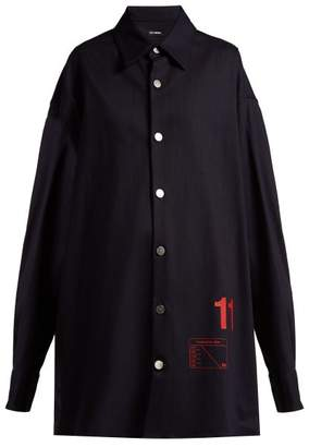 Raf Simons Denim Overshirt - Womens - Dark Navy