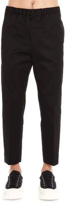 Jil Sander Elasticated Waistband Cropped Trousers