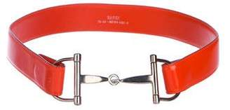 Gucci Patent Horsebit Belt