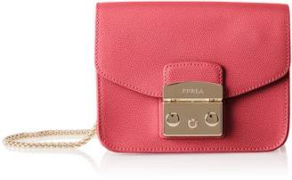 Furla Metropolis Mini Rubin Red Shoulder Bag Red