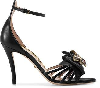 Gucci Women's Embellished Leather Ankle-Strap Sandals