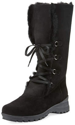 La Canadienne Annabella Shearling Fur-Lined Boots, Black