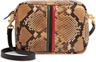 Clare Vivier Midi Sac Snake Embossed Goatskin Leather Crossbody Bag