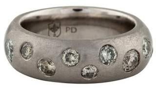 Palladium Lisa Des Camps Diamond Pebble Band