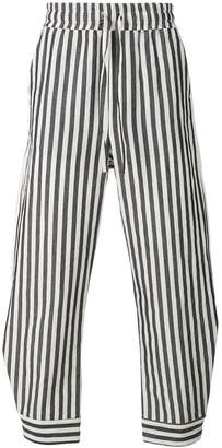 Damir Doma striped wide leg trousers