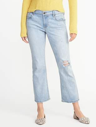 Old Navy Distressed Flare Cropped Jeans for Women