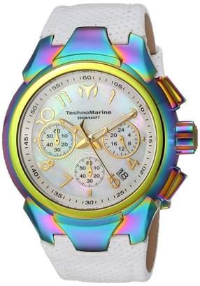 Technomarine Sea TM-715038 Stainless Steel & Leather Strap Quartz 42mm Womens Watch