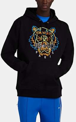 56946749 Kenzo Men's Tiger-Embroidered Cotton Hoodie - Black