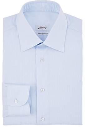 Brioni Men's Striped Cotton Poplin Dress Shirt