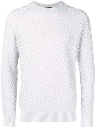 Giorgio Armani patterned knit jumper