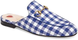 Gucci Princetown Gingham Loafer Mule