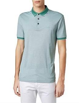 HUGO BOSS Regular-Fit Polo Shirt In Two-Tone Oxford Piqu