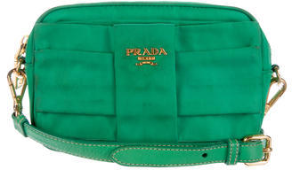 prada Prada Pleated Tessuto Crossbody Bag