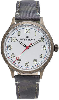 Lucky Brand Men's Jefferson Camo Canvas Strap Watch 38mm