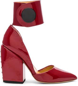Petar Petrov Patent Leather Sally Toe Pumps