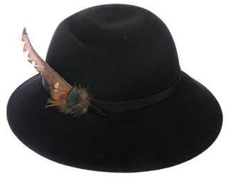 Burberry Wool Feather-Trimmed Hat