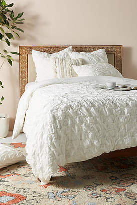 Anthropologie Ruched Hampshire Duvet Cover