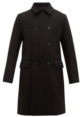 Prada Double Breasted Wool Overcoat - Mens - Black