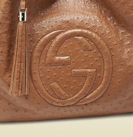 Gucci Soho Ostrich Shoulder Bag