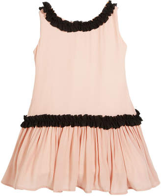 Helena Sleeveless Georgette Ruffle Dress, Size 2-6