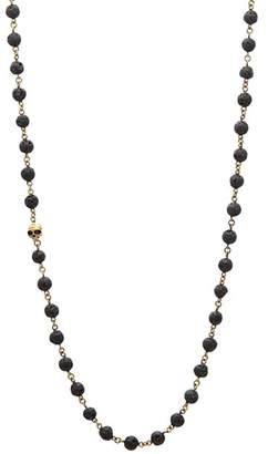 John Varvatos Collection Lava Bead Brass Link Necklace, 24""