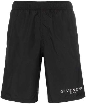 Givenchy Long logo swim shorts