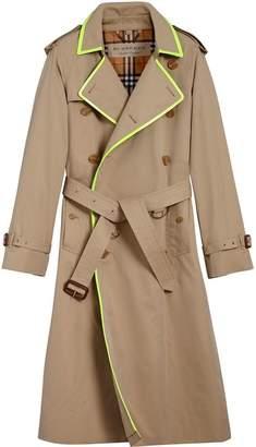 Burberry tape detail gabardine trench coat