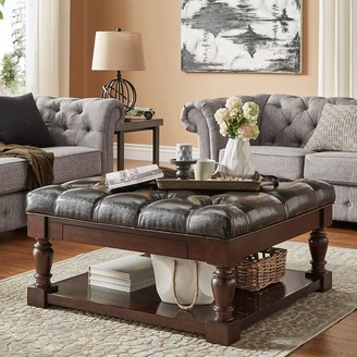Homevance HomeVance Button Tufted Upholstered Coffee Table