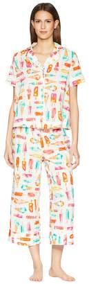 Kate Spade Ice Cream Print Cropped Pajama Set