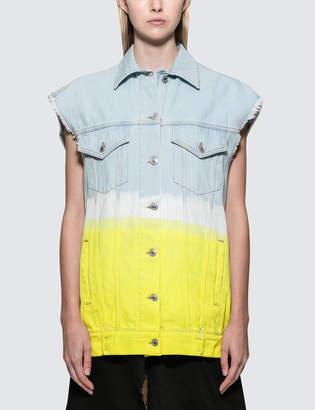 MSGM Faded Tie & Dye Denim Jacket