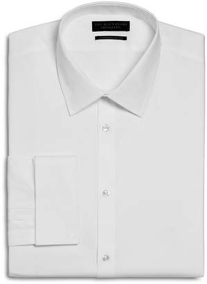 Bloomingdale's The Men's Store at Textured Solid French Cuff Regular Fit Dress Shirt - 100% Exclusive