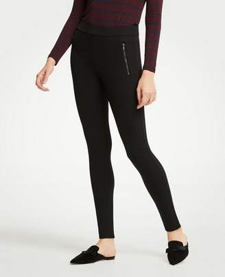 Ann Taylor Petite Scuba Zip Pocket Leggings