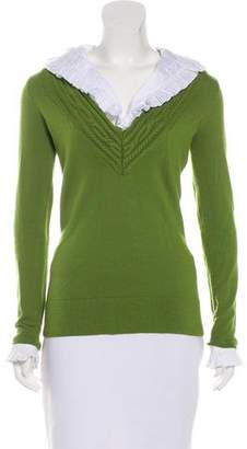 Tory Burch Layered Wool Sweater