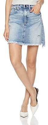 HALE Women's Blair A Line Jean Skirt