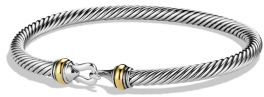 David Yurman Cable Buckle Bracelet with Gold $450 thestylecure.com