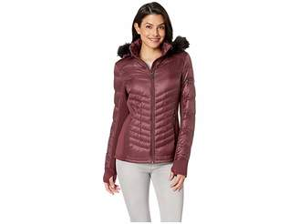 a25baccfeeeb ... MICHAEL Michael Kors Zip Front Knit and Down Jacket A820142G