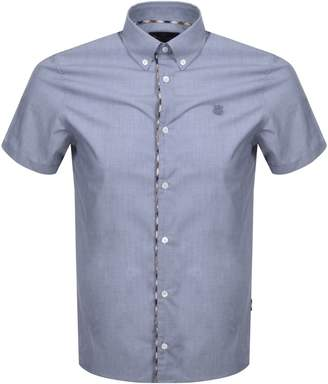 Aquascutum London Short Sleeve Kedge Shirt Navy