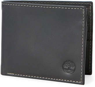Timberland Black Leather Passcase Wallet