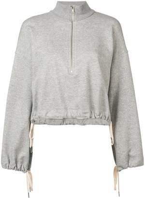 A.L.C. (エーエルシー) - A.L.C. cropped high neck sweatshirt