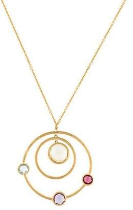 Marco Bicego 18K Multistone Jaipur Double Circle Pendant Necklace